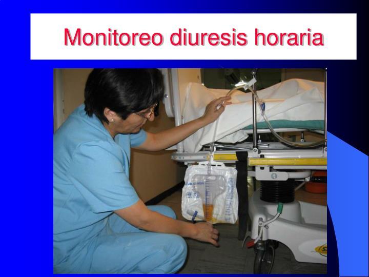 Monitoreo diuresis horaria