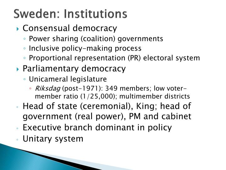 Sweden: Institutions