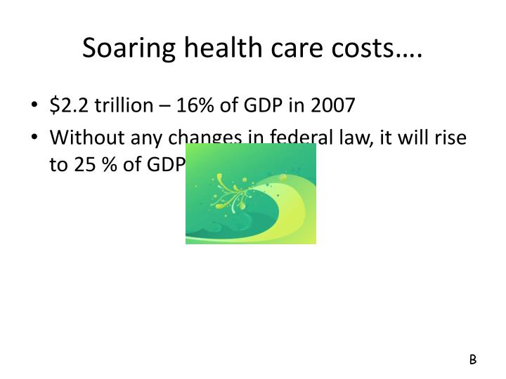 Soaring health care costs….