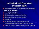 individualized education program iep