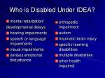 who is disabled under idea