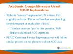 academic competitiveness grant 2006 07 implementation1
