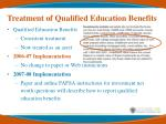 treatment of qualified education benefits