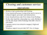 clearing and customer service operations