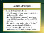 earlier strategies1