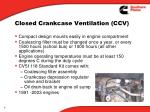 closed crankcase ventilation ccv3
