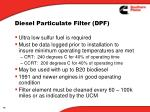 diesel particulate filter dpf4