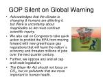 gop silent on global warning