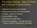 the urban setting sign of times and industrial transformation
