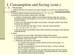 i consumption and saving cont4