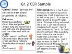 gr 2 cer sample