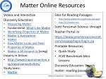 matter online resources