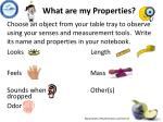 what are m y properties