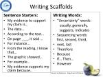writing scaffolds