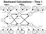 backward calculations time 1