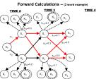 forward calculations 2 word example
