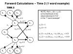 forward calculations time 2 1 word example