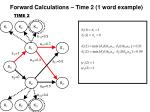 forward calculations time 2 1 word example1