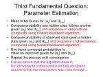 third fundamental question parameter estimation