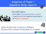 adoption of panel appellate body reports