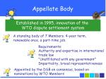 appellate body