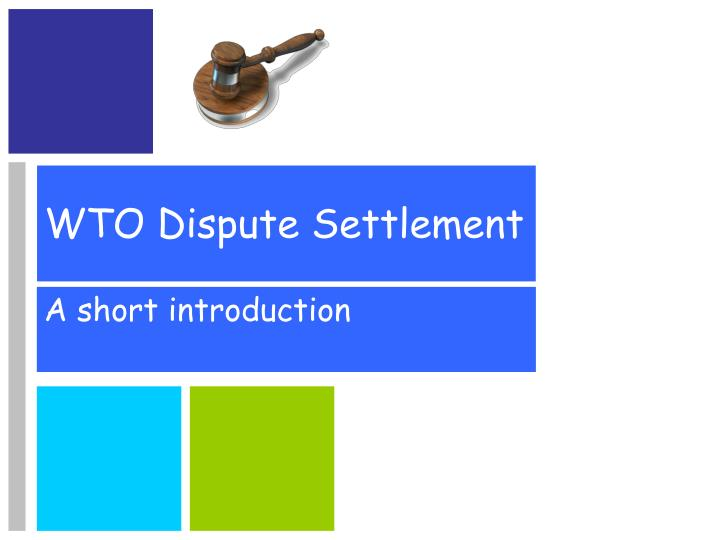 wto dispute settlement n.
