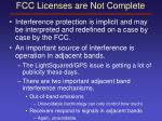 fcc licenses are not complete