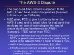 the aws 3 dispute