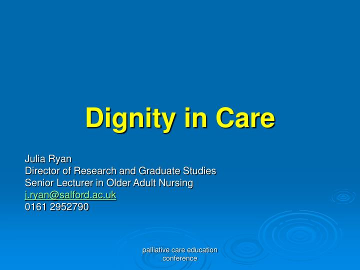 dignity in care n.