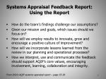 systems appraisal feedback report using the report