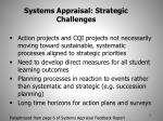 systems appraisal strategic challenges