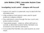 john walton 1981 lancaster asylum case study