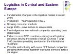 logistics in central and eastern europe