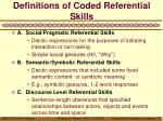 definitions of coded referential skills