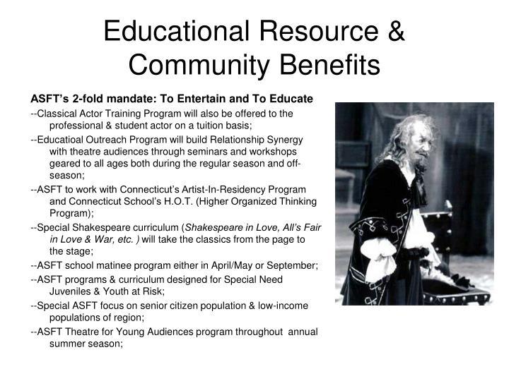 Educational Resource &