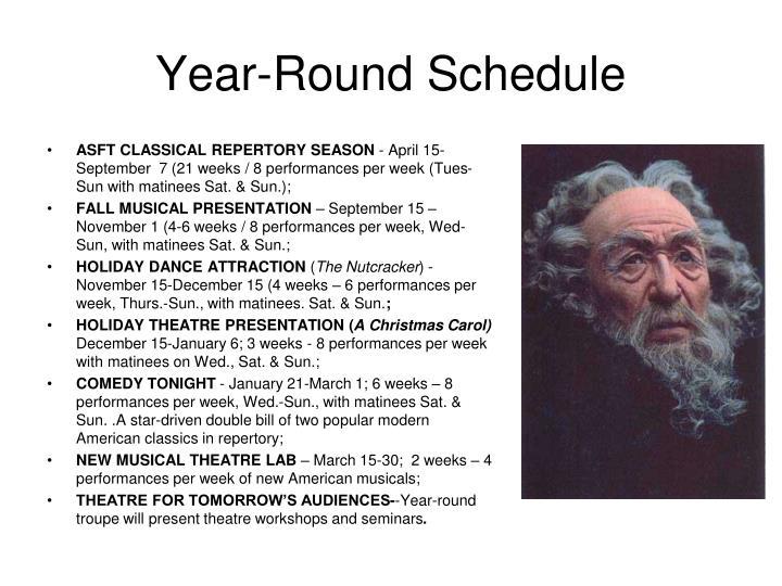 Year-Round Schedule