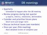 db meetings