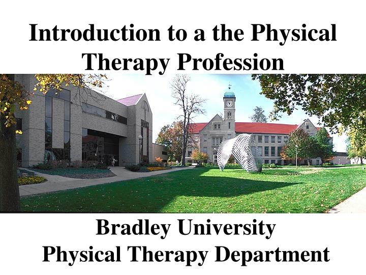 bradley university physical therapy department n.