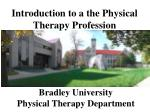 bradley university physical therapy department