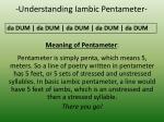 understanding iambic pentameter1