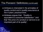 the pioneers definitions continued1