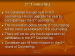 2 nd counseling