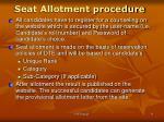 seat allotment procedure1