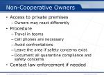 non cooperative owners