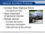 vehicle accident protocol