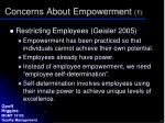 concerns about empowerment 1