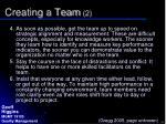 creating a team 2