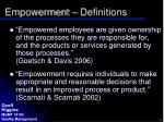 empowerment definitions