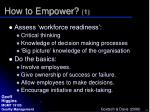 how to empower 1
