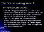 the course assignment 2